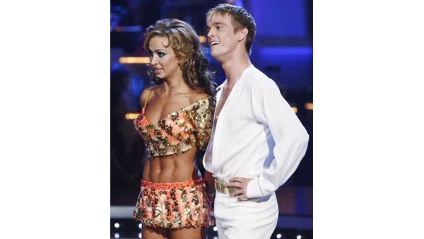 Aaron Carter and Karina Smirnoff perform during 'Dancing With the Stars,' Oct. 12, 2009