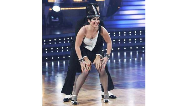 Kelly Osbourne and Louis Van Amstel perform during 'Dancing With the Stars,' Oct. 12, 2009