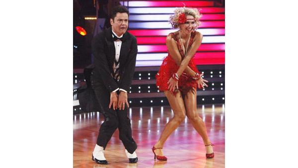 Donny Osmond and Kym Johnson perform during 'Dancing With the Stars,' Oct. 12, 2009