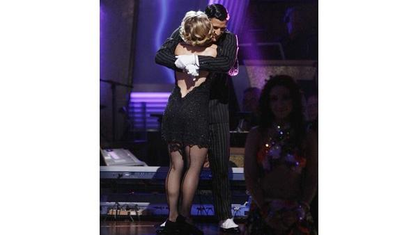 Melissa Joan Hart and Mark Ballas react on 'Dancing With the Stars,' Oct. 13, 2009
