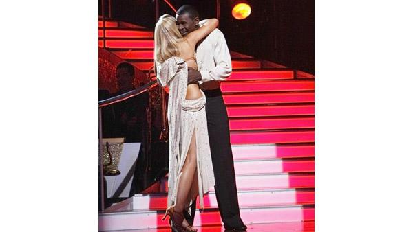 Michael Irvin and Anna Demidova react on 'Dancing With the Stars,' Oct. 13, 2009
