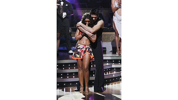 Mya and Dmitry Chaplin react on 'Dancing With the Stars,' Oct. 13, 2009
