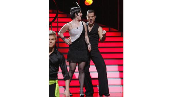 Kelly Osbourne and Louis Van Amstel react on 'Dancing With the Stars,' Oct. 13, 2009