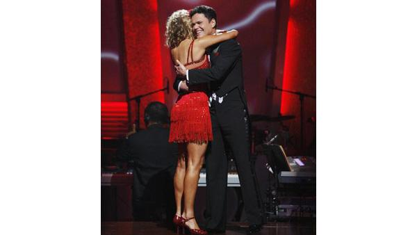 Donny Osmond and Kym Johnson react on 'Dancing With the Stars,' Oct. 13, 2009