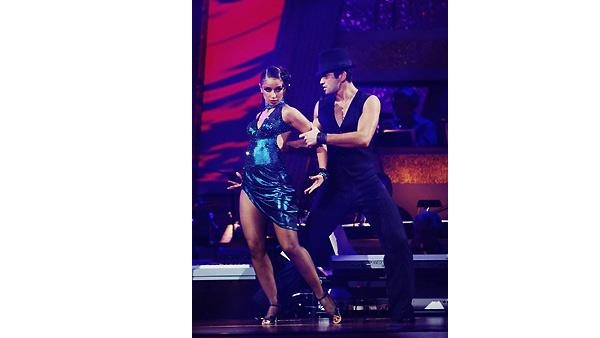 Mya and Dmitry Chaplin perform on 'Dancing With the Stars', October 19, 2009