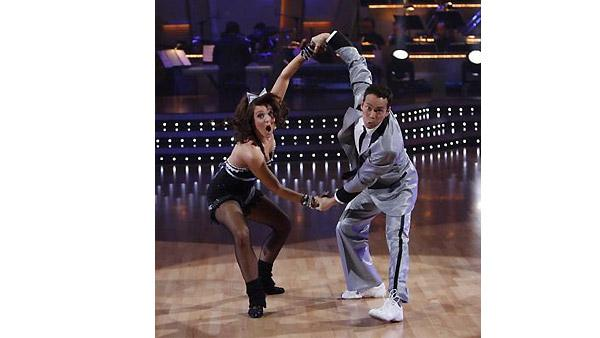 Mark Dacascos and Lacey Schwimmer perform during 'Dancing With the Stars,' October 12, 2009