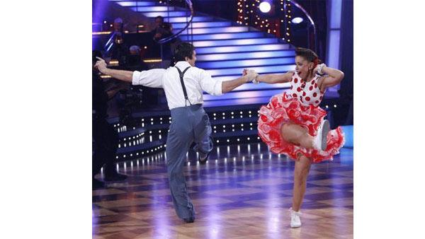 Mya and Dmitry Chaplin perform during 'Dancing With the Stars,' October 12, 2009