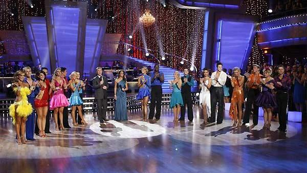 Celebrity competitors perform during 'Dancing With the Stars,' October 26, 2009