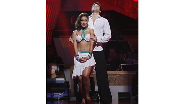 Mya and Dmitry Chaplin react on 'Dancing With the Stars,' Oct. 27, 2009