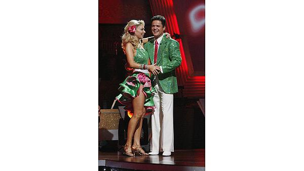 Donny Osmond and Kym Johnson react on 'Dancing With the Stars,' Oct. 27, 2009