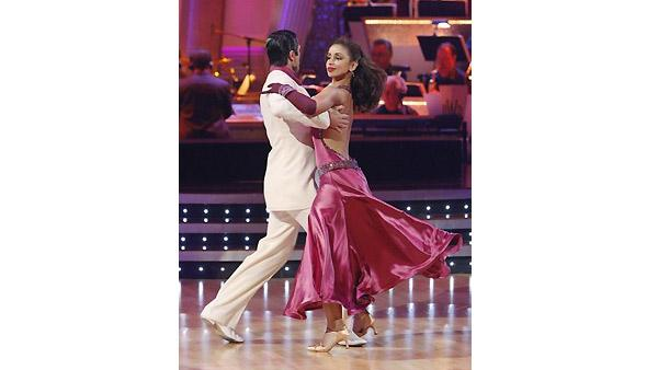 Mya and Dmitry Chaplin perform during 'Dancing With the Stars,' Monday, November 2, 2009