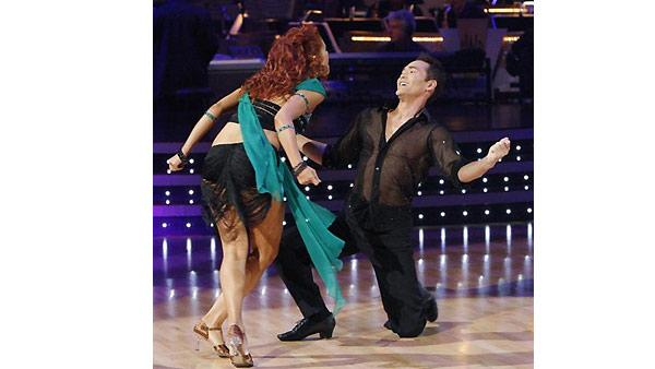 Mark Dacascos and Anna Trebunskaya perform during 'Dancing With the Stars,' Monday, November 2, 2009