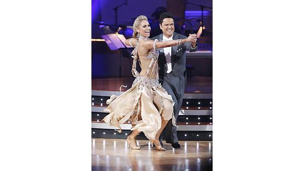 Donny Osmond and Kym Johnson perform during 'Dancing With the Stars,' Monday, November 2, 2009