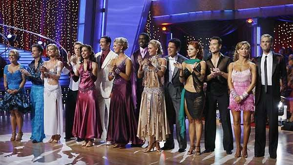 Celebrity competitors perform during 'Dancing With the Stars,' Monday, November 2, 2009