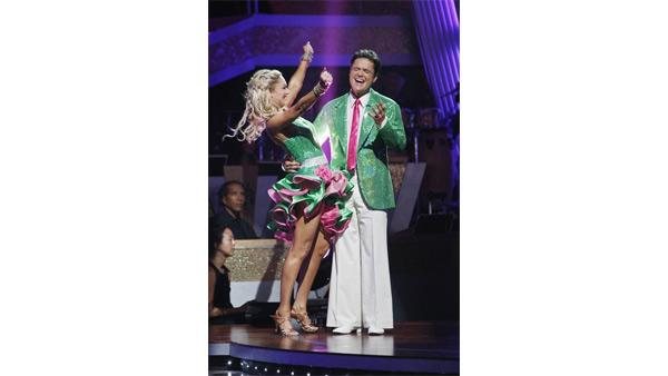 Donny Osmond and Kym Johnson react on 'Dancing With the Stars,' Nov. 3, 2009