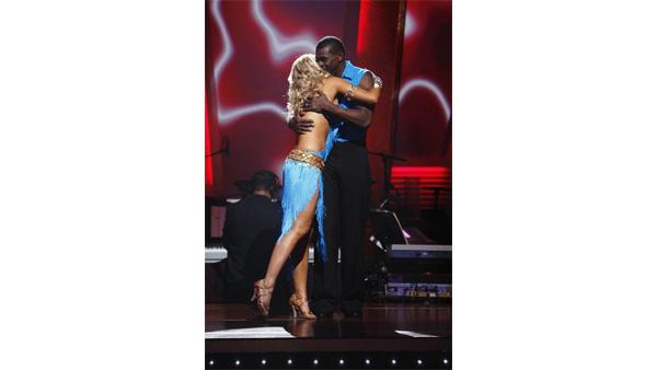 Michael Irvin and Anna Demidova after they were eliminated on 'Dancing With the Stars,' Nov. 3, 2009