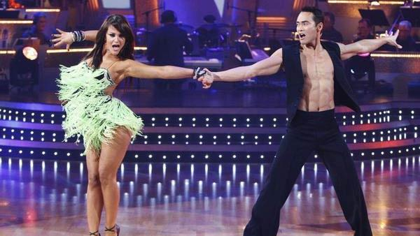 Mark Dacascos and Lacey Schwimmer perform on 'Dancing With the Stars,' Nov. 3, 2009