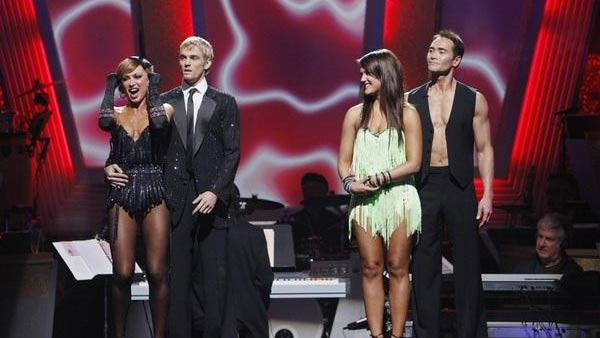 Aaron Carter and Karina Smirnoff react on 'Dancing With the Stars,' Nov. 3, 2009