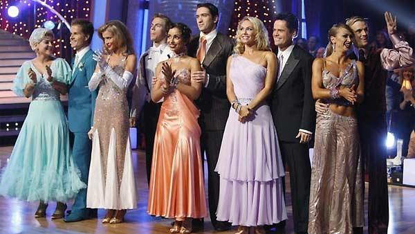 Celebrity competitors are seen after 'Dancing With the Stars,' November 9, 2009