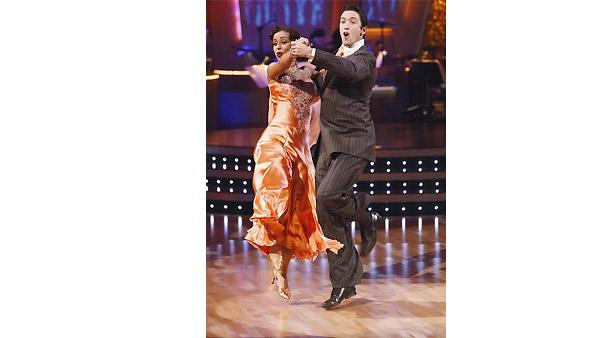 Mya and Dmitry Chaplin perform during 'Dancing With the Stars,' Monday, November 9, 2009