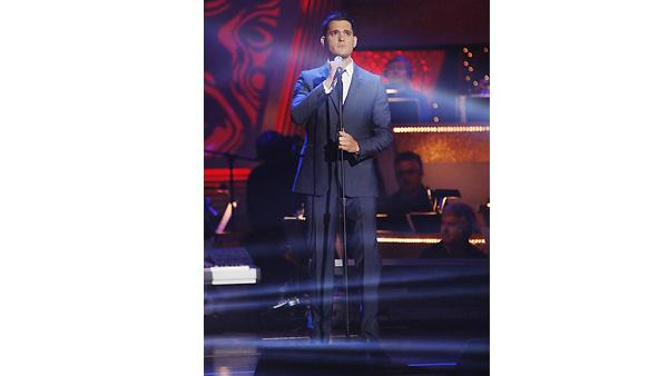 Singer Michael Buble performed the classic hit, 'Feeling Good,' on 'Dancing with the Stars: The Results Show'  November 10, 2009