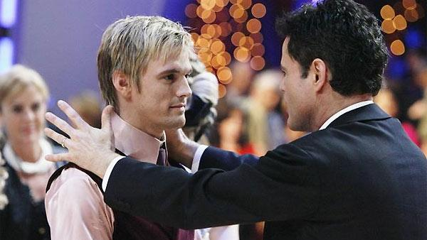 Aaron Carter and Donny Osmond are seen on 'Dancing With the Stars: The Results Show,' November 10, 2009