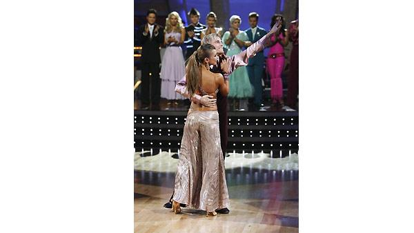 Aaron Carter and Karina Smirnoff are seen after being eliminated on 'Dancing With the Stars: The Results Show,' November 10, 2009