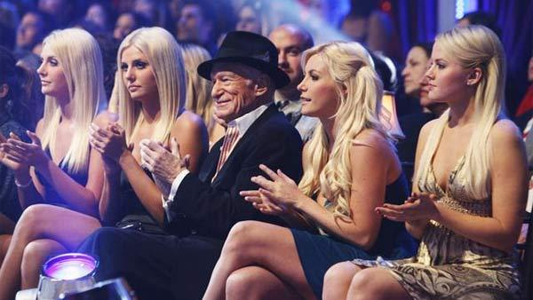Hugh Hefner and 'The Girls Next Door' were in the studio audience at 'Dancing With the Stars: The Results Show,'  November 10, 2009
