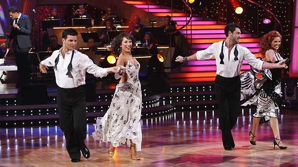 Pro dancers Jonathan Roberts, Cheryl Burke, Maksim Chmerkovskiy and Anna Trebunskaya are seen performing on 'Dancing With the Stars: The Results Show' on November 11, 2009