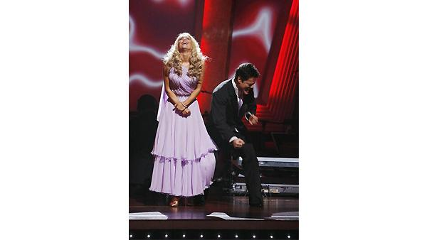 Donny Osmond and Kym Johnson are seen on 'Dancing With the Stars: The Results Show,' November 10, 2009
