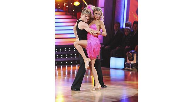 Joanna Krupa and Derek Hough perform during 'Dancing With the Stars,' November 16, 2009
