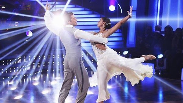 Mya and Dmitry Chaplin perform during 'Dancing With the Stars,' November 16, 2009