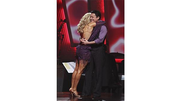 Donny Osmond and Kym Johnson are seen on 'Dancing With the Stars: The Results Show,'  November 17, 2009
