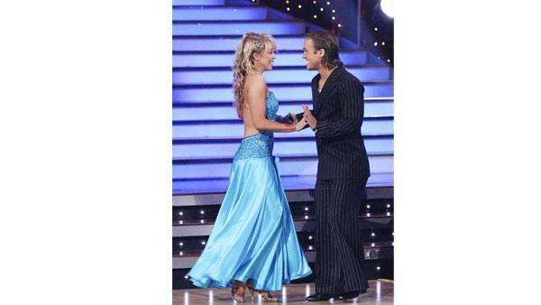 Louie Vito is seen with his with professional dance partner Chelsie Hightower on 'Dancing with the Stars: The Results Show'
