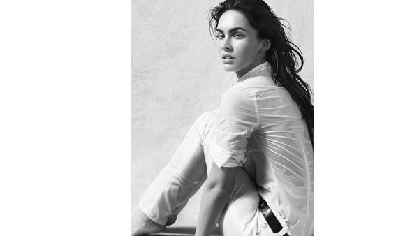 Actress Megan Fox is seen in the official advertising campaigns for Emporio Armani Women's Underwear and Armani Jeans for Spring/Summer 2010