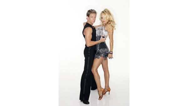 Actress Pamela Anderson of 'Baywatch' fame joins professional dancer Damian Whitewood, who makes his 'Dancing With the Stars' debut this season.