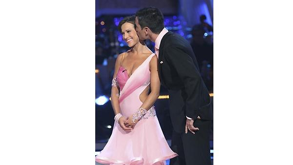 Aiden Turner and Edyta Sliwinska get their scores on 'Dancing With the Stars,' Monday, March 29, 2010