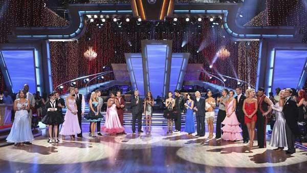 All 11 couples gather on the dance floor on 'Dancing With the Stars,' Monday, March 29, 2010.