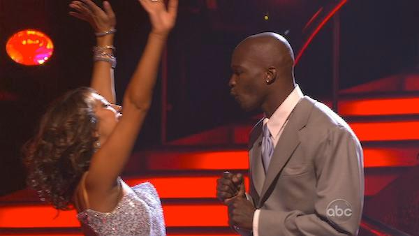 Chad Ochocinco and Cheryl Burke scored 16 points out of 30 on Monday's show. The couple was saved by voters Tuesday, March 30, 2010 on 'Dancing With the Stars.'