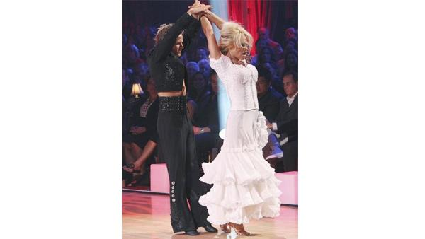 Pamela Anderson and Damian Whitewood perform on 'Dancing With the Stars,' Monday, Apri
