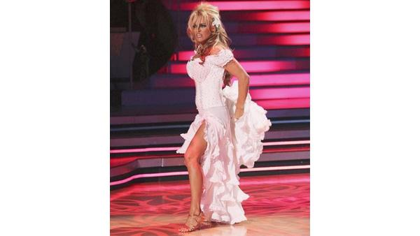 Pamela Anderson performs on