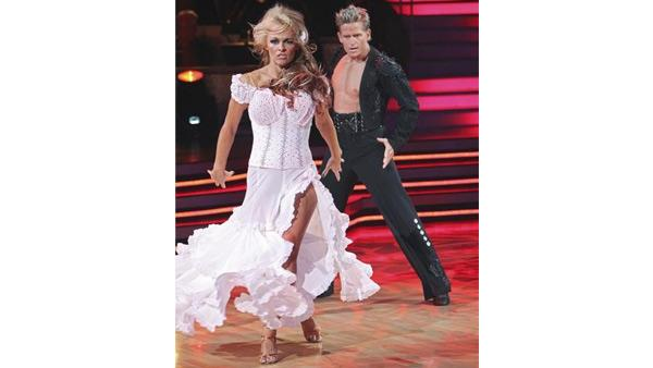 Pamela Anderson and Damian Whitewood perform on 'Dancing With the Stars,