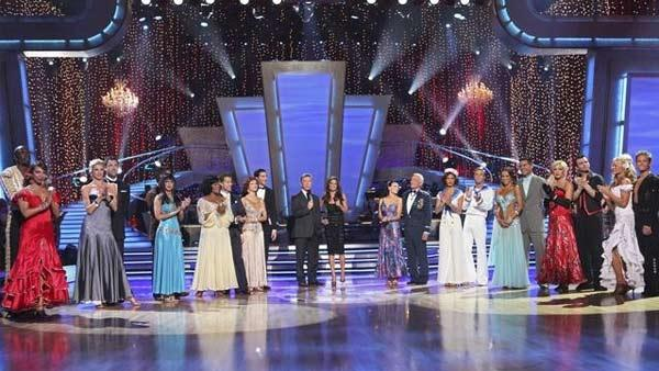 All 11 couples gather on the dance floor on 'Dancing With the Stars,' Monday, April 5, 2010.