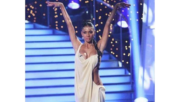 Nicole Scherzinger performs on 'Dancing With the Stars,' Monday, April 12, 2010. The judges gave Scherzinger and her partner Derek Hough 50 points out of 60.