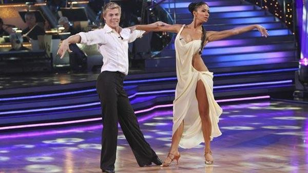 Nicole Scherzinger and Derek Hough perform on 'Dancing With the Stars,' Monday, April 12, 2010. The judges gave the couple 50 points out of 60.