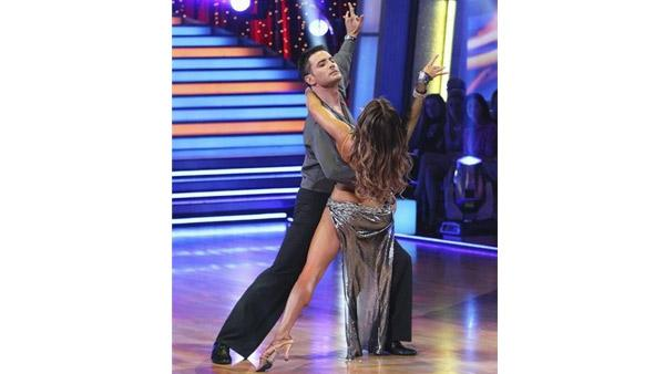 Aiden Turner and Edyta Sliwinska perform on 'Dancing With the Stars,' Monday, April 12, 2010. The judges gave the couple 33 points out of 60.