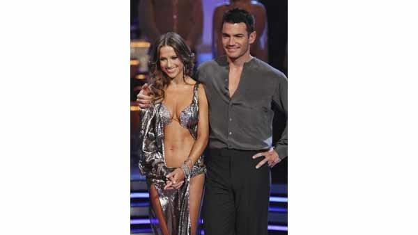 Soap star Aiden Turner and Edyta Sliwinska were eliminated on 'Dancing With the Stars: The Results Show,' Tuesday, April 13, 2010. The couple scored 33 points out of 60 on Monday's show.