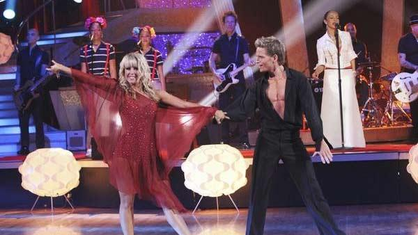 Chelsie Hightower and Damian Whitewood dance as Grammy Award-winning group Sade headlined by vocalist Sade Adu performed from their latest album on 'Dancing With the Stars: The Results Show,' Tuesday, April 13, 2010.