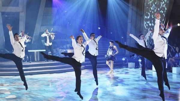 New York City Ballet's principal ballerina, Tiler Peck, and violin duo 'Nuttin But Stringz' performed to choreography by contemporary hip-hop dancer and choreographer Travis Wall, on 'Dancing With the Stars: The Results Show,' Tuesday, April 13, 2010.