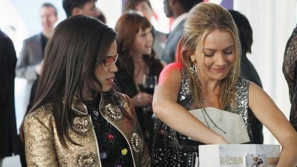 America Ferrera, Becki Newton pictured in the final 'Ugly Betty' episode, 'Hello Goodbye,' aired April 14, 2010.